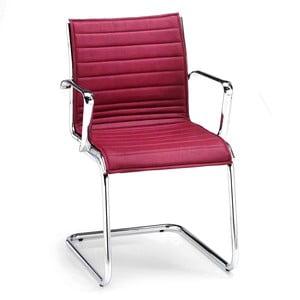 Vínová kancelárska stolička s opierkami na ruky Zago Chrono