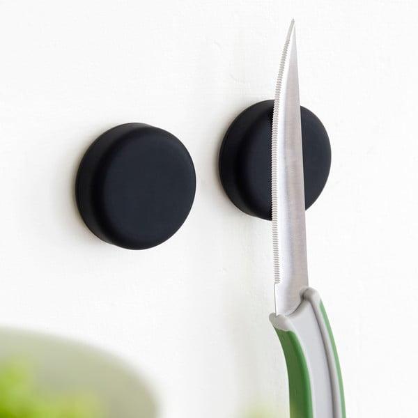 Sada 2 magnetických držiakov Steel Function Round Black