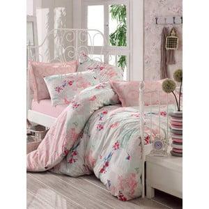 Ružová prikrývka na posteľ Love Colors Molly, 200 x 240 cm