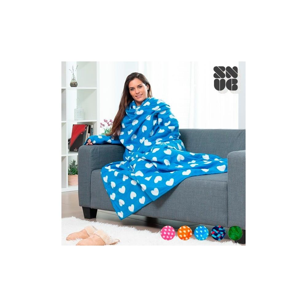 Extra mäkká modrá deka s rukávmi InnovaGoods Snug
