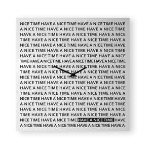 Nástenné hodiny dESIGNoBJECT.it Nice Time White, 50 x 50 cm