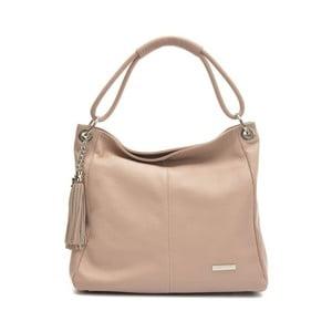 Ružovobéžová kožená kabelka Anna Luchini Magdana