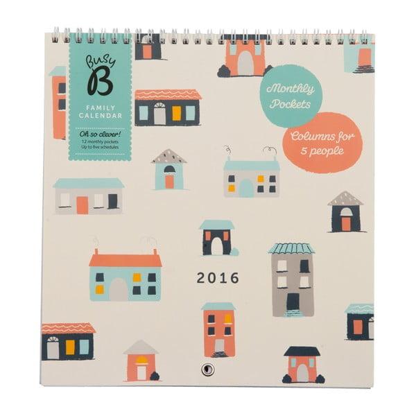 Rodinný kalendár Houses 2016