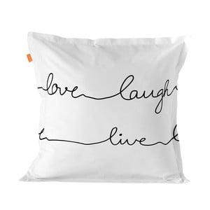 Balvnená obliečka na vankúš Blanc Live, 60×60 cm