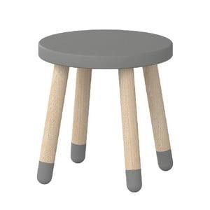 Sivá detská stolička Flexa Play, ø 30 cm