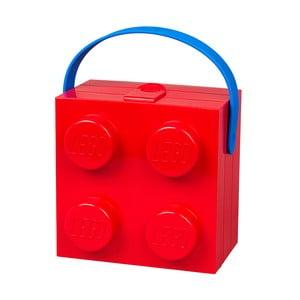 Úložný box LEGO® s rukoväťou, červený