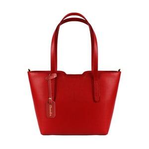 Červená kožená kabelka Maison Bag Alicia