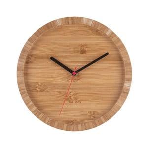 Hnedé nástenné bambusové hodiny Karlsson Tom, Ø26cm