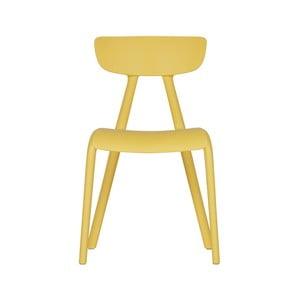 Žltá detská jedálenská stolička WOOOD Wisse