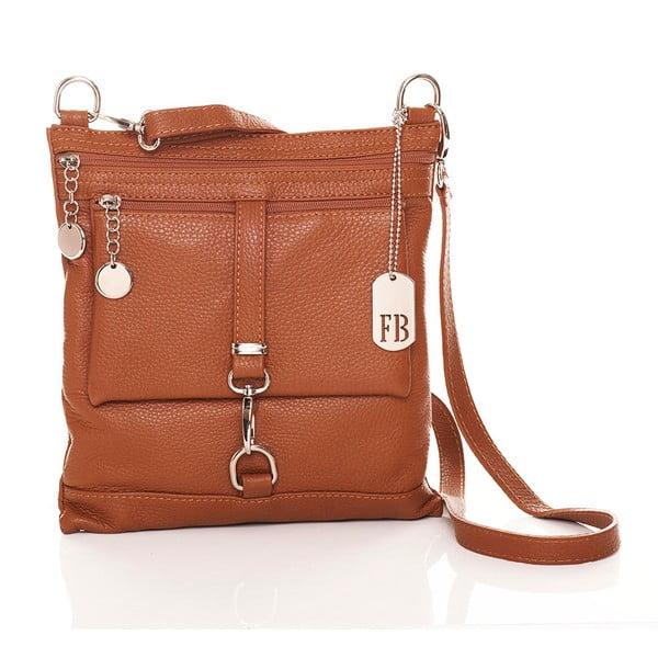 Hnedá kožená kabelka Federica Bassi Hadar