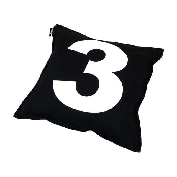 Vankúš Lona Number 40x40 cm, čierny