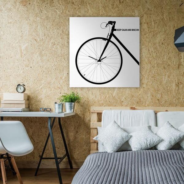 Nástenné hodiny Bike White, 80x80 cm