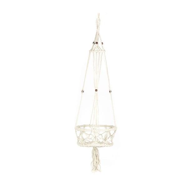 Závesný držiak na kvetináč Macrame Blanco, 25 cm