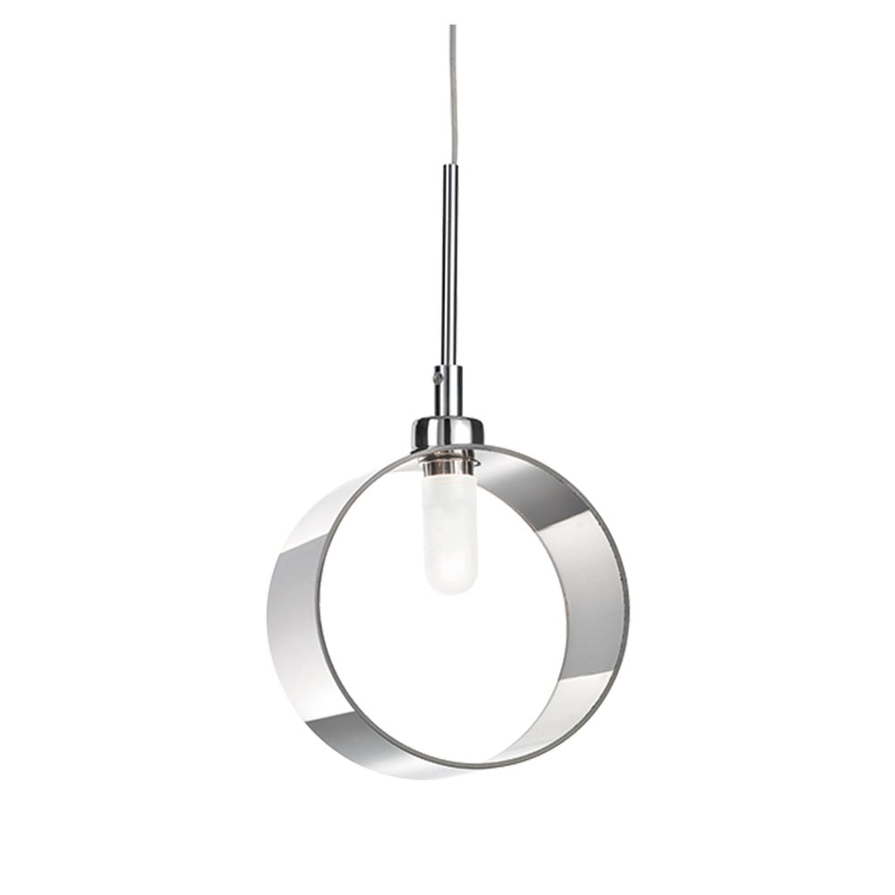 Závesné svietidlo Evergreen Lights Modern Circle Chrome