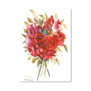 Plagát Burgundy Red Roses od Suren Nersisyan