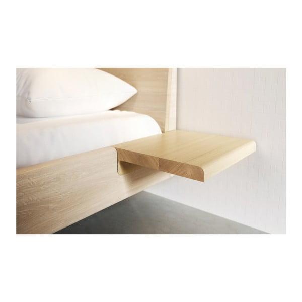 Prírodná dvojlôžková posteľ z masívneho dubového dreva JELÍNEK Amanta, 160×200 cm