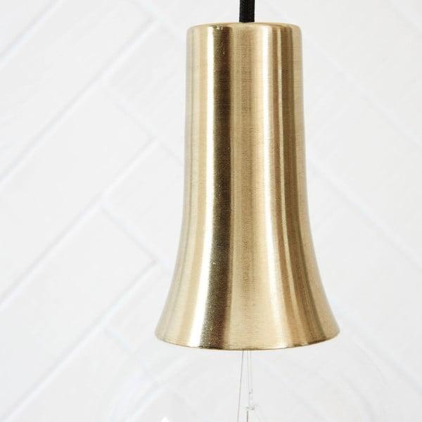 Závesné svietidlo s čiernym káblom aobjímkou House Doctor Gold