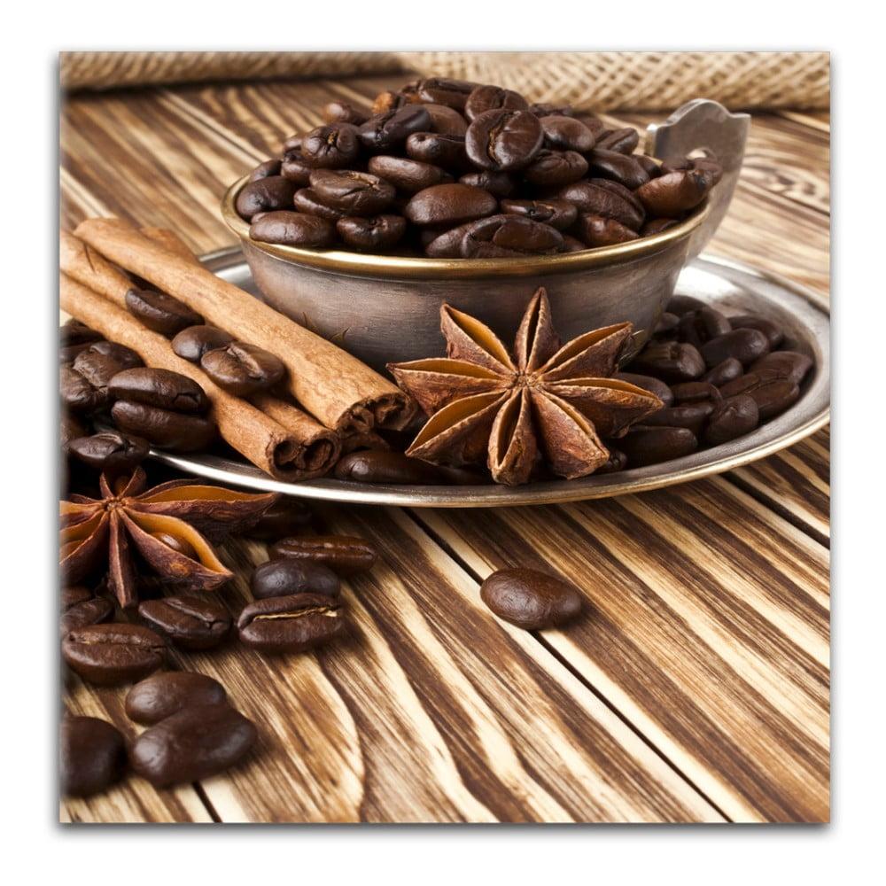Obraz Styler Glasspik Coffee, 30 × 30 cm