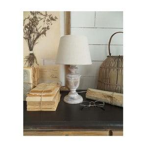 Biela drevená stolová lampa Orchidea Milano 34 cm