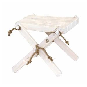 Biela stolička z borovicového dreva EcoFurn Lili