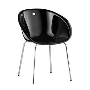 Čierna stolička Pedrali Gliss