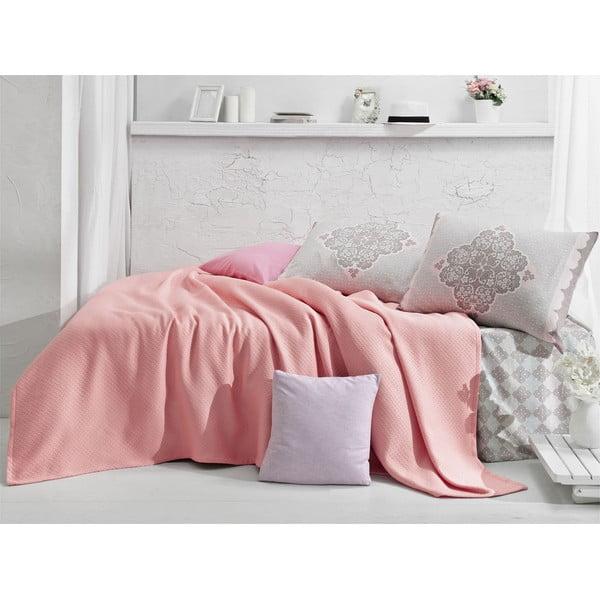 Prikrývka s plachtou Lovely Pink, 160x235 cm
