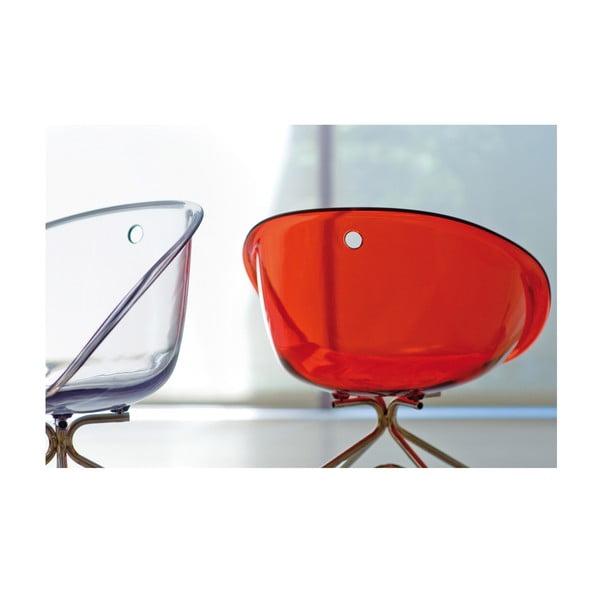 Transparentná stolička na kolieskach Pedrali Gliss 968