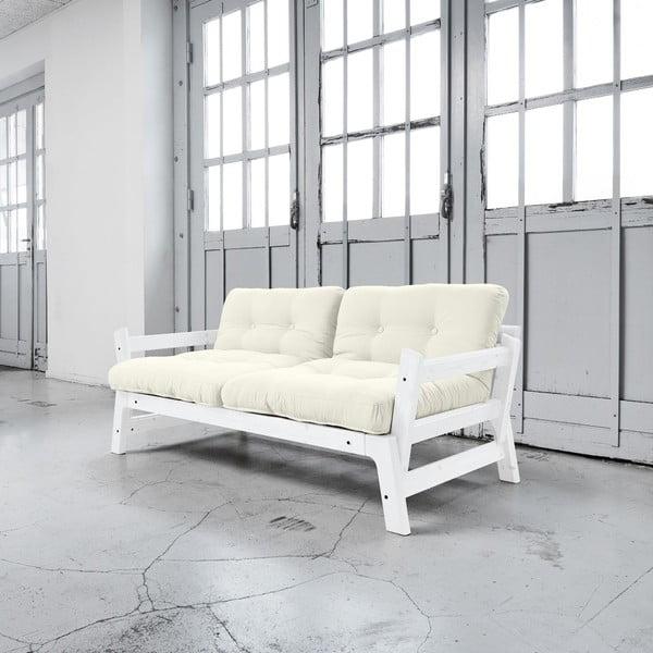 Rozkladacia pohovka Karup Step White/Natural