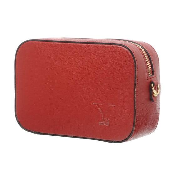 Kožená listová kabelka Little High Red
