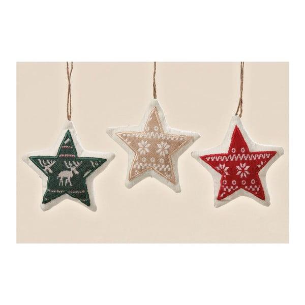 Sada 3ks závesných dekorácií Trio Star