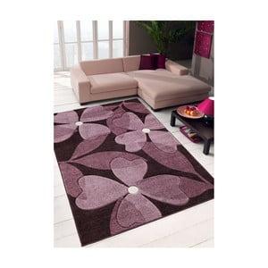 Koberec Webtappeti Intarsio Floral Violet, 140×200cm