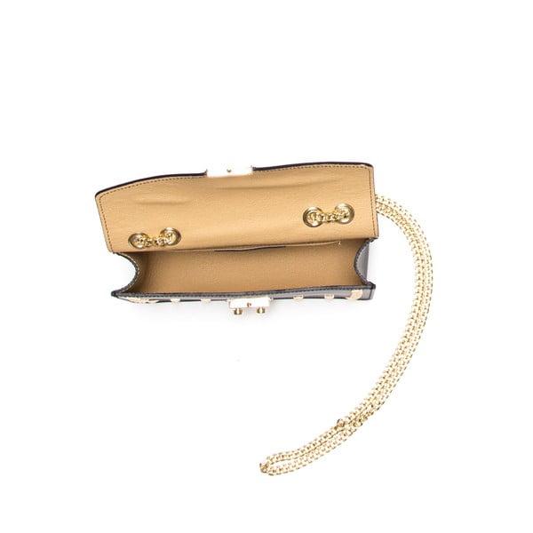 Kožená kabelka Anna Luchini 3044 Nero