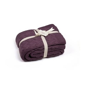 Tmavofialová deka Homemania Hannah
