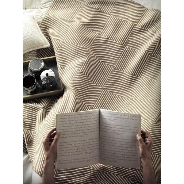 Machovozelená deka Euromant Tebas, 140 x 180 cm