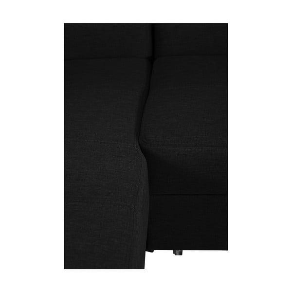 Čierna rozkladacia pohovka Modernist Icone, ľavý roh