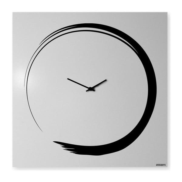 Nástenné hodiny dESIGNoBJECT.it Enso Clock White, 50 x 50 cm