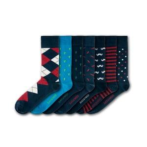 Sada 7 ponožiek Black&Parker London Weymouth Peace Garden, veľkosť 37 – 43