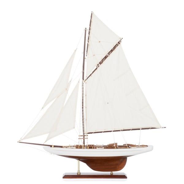 Dekoratívna plachetnica Sail Boat White, 69 cm