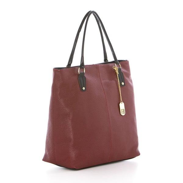 Červená kožená kabelka Federica Bassi Harmonia