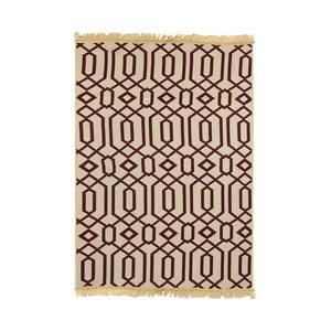 Červeno-béžový koberec Ya Rugs Kenar, 60×90cm