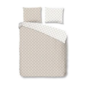 Béžové bavlnené obliečky Mundotextil Pattern, 200x200 cm