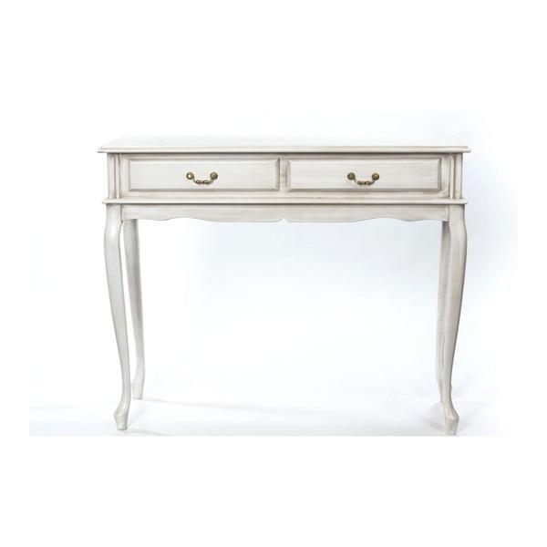 Konzolový stolík Bergman Cream, 100x42x82 cm