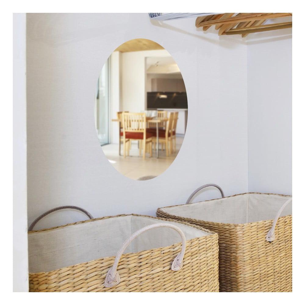 Zrkadlová adhezívna samolepka Ambiance Oval, 42 × 27 cm