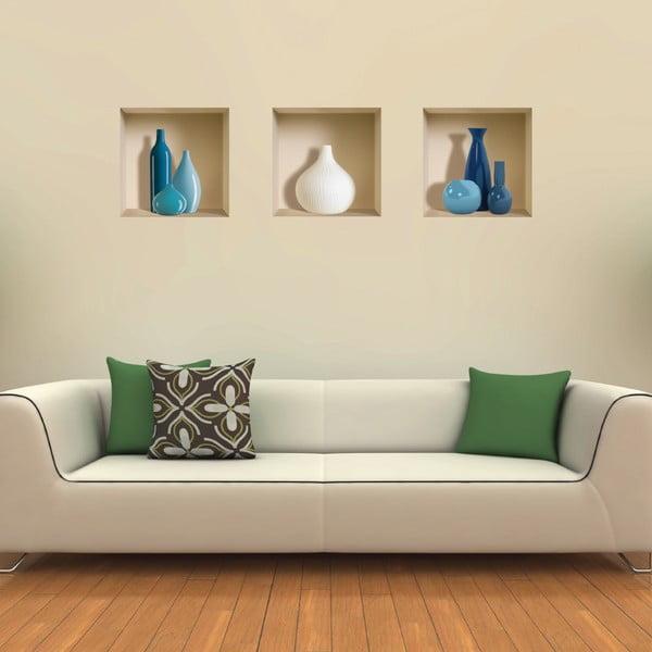 3D samolepky na stenu Nisha Blue&White Pot