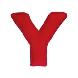 Látkový vankúš Y, červený