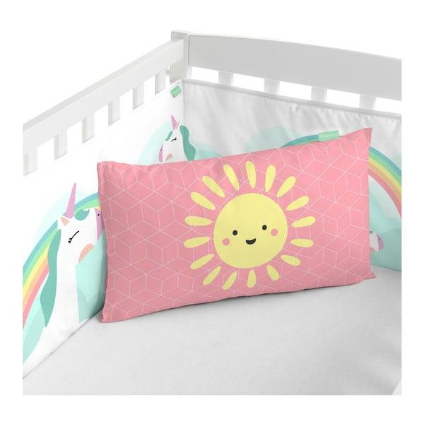 Textilný mantinel do postieľky Happynois Rainbow, 210×40cm