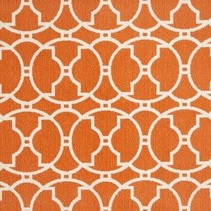 Oranžový koberec Nourison Baja Paita, 290×201cm