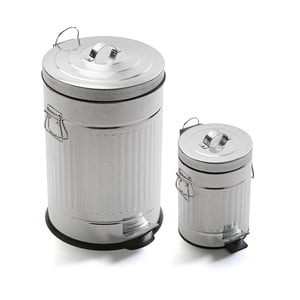 Sada 2 odpadkových košov Bano Cubos, 20l + 3l