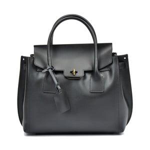 71039f48a7 Čierna kožená kabelka Luisa Vannino Liona
