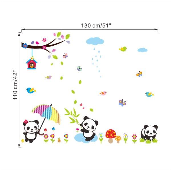 Samolepka Ambiance Babies Pandas